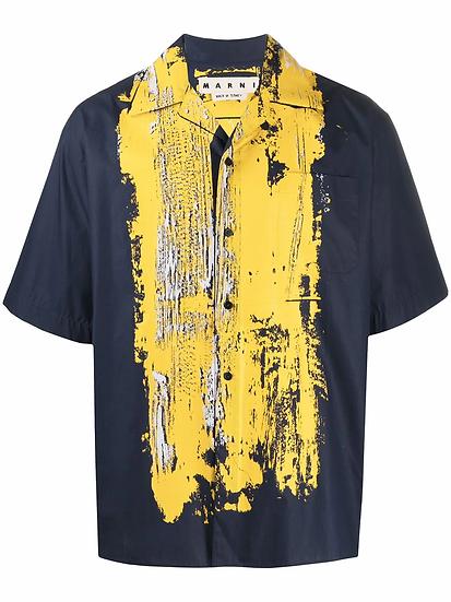 Marni - camisa bowling estampada