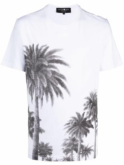 Hydrogen - palm tree print t-shirt
