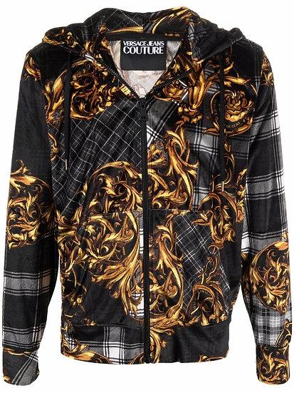 Versace Jeans Couture - baroque zip-up hoodie