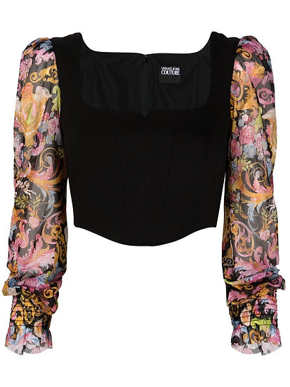 Versace Jeans Couture - top estilo corsé estampado Versalles