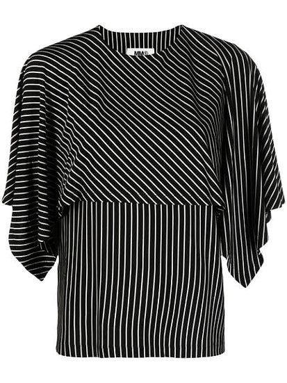 MM6 Maison Margiela - blusa drapeada