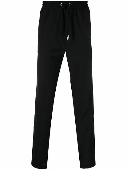 Les Hommes - pantalón recto con cinturilla elástica