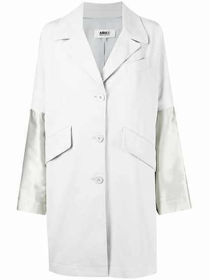 MM6 Maison Margiela - abrigo manga en contraste