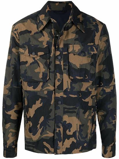 DONDUP - chaqueta estampado militar