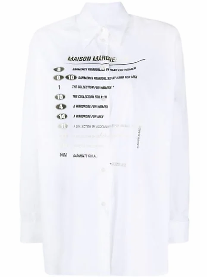 MM6 Maison Margiela - camisa estampada