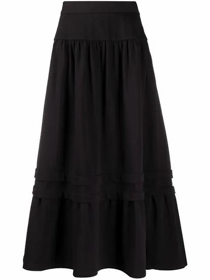 tiered layered maxi skirt