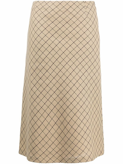 Maison Margiela - plaid skirt