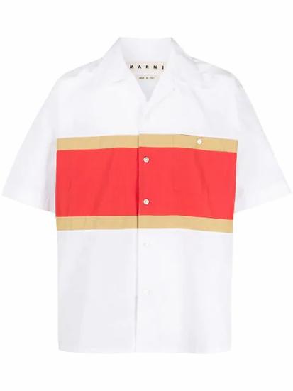 Marni - camisa colour block