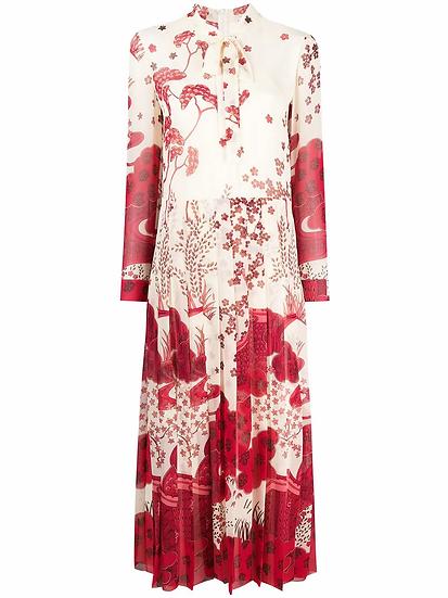 Red Valentino - vestido estampado paisaje