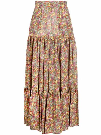 M Missoni - falda larga estampado floral
