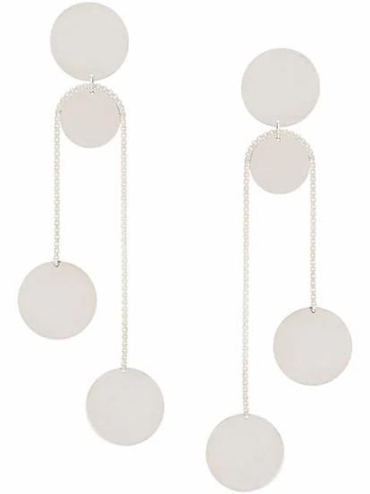 Saskia Diez - pendientes con placa colgante