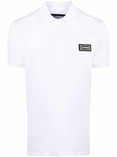 Les Hommes - logo patch polo shirt
