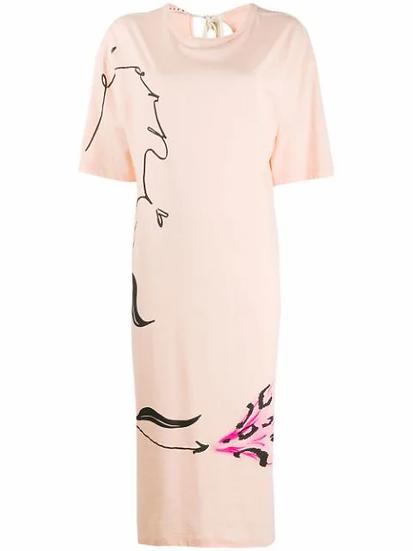 Marni - vestido camisero estampado