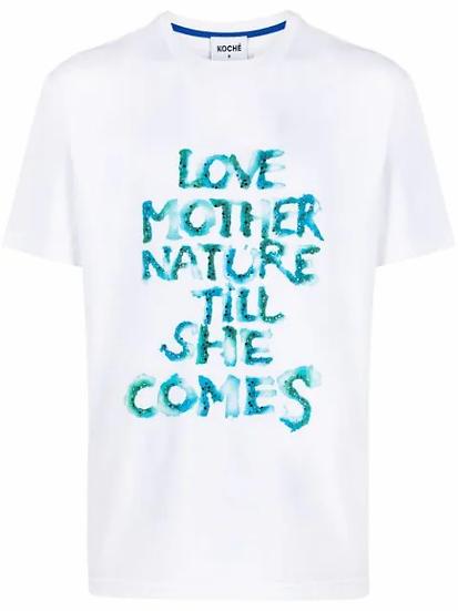Koché - t-shirt eslogan estampado