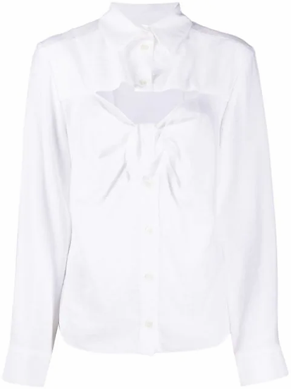 Shirt with bow on the front
