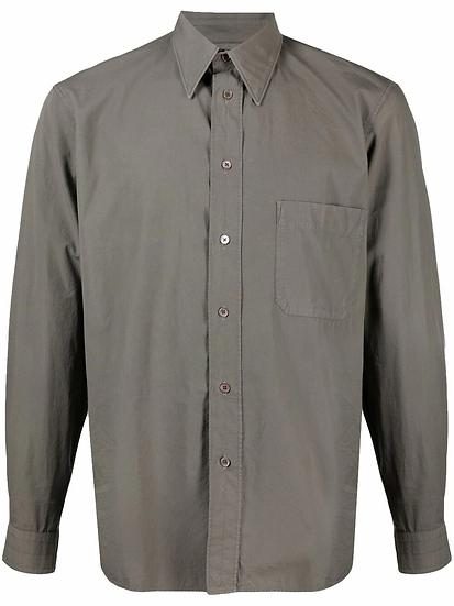 Lemaire - camisa vaquera con bolsillo