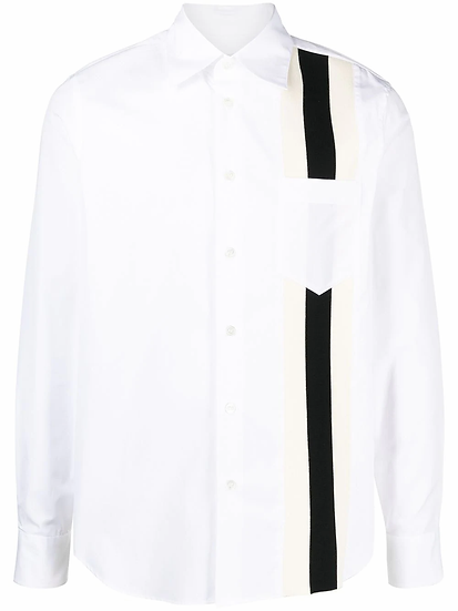 Marni - camisa panel rayas