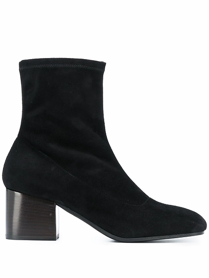 65mm square heel boots