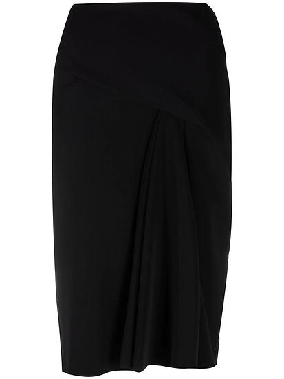 Versace - falda acampanada con pliegues