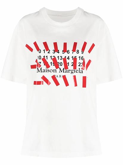 Maison Margiela - t-shirt logo estampado