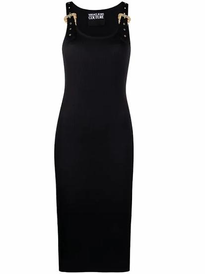 Versace Jeans  Couture -  vestido detalle hebillas
