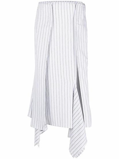 MM6 Maison Margiela - falda asimétrica a rayas