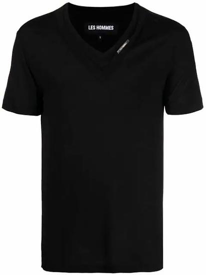 Les Hommes - t-shirt cuello V