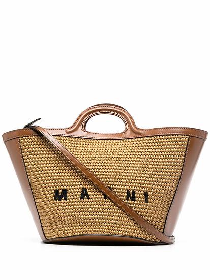 Marni - bolso shopper  raffia