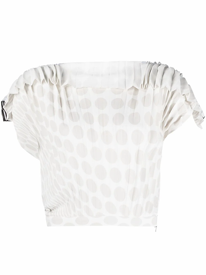 MM6 Maison Margiela - blusa estampado lunares