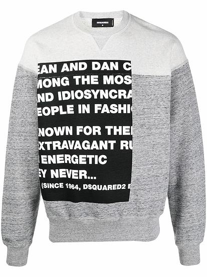 Dsquared2 - sudadera eslogan estampado