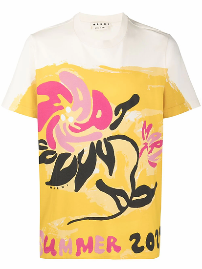 Marni - t-shirt motivo floral