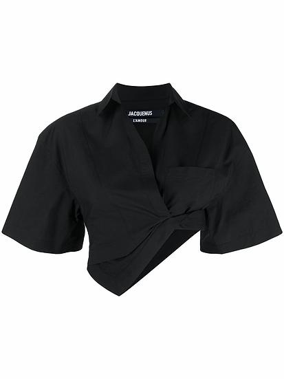 Jacquemus - camisa corta asimétrica