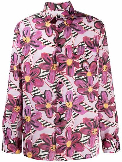 Marni - camisa  estampado flores