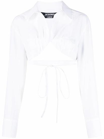Jacquemus - camisa corta con detalle de tira