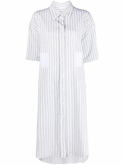 MM6 Maison Margiela - vestido camisero a rayas
