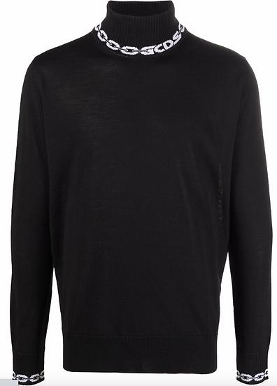 GCDS - jersey con cuello y logo
