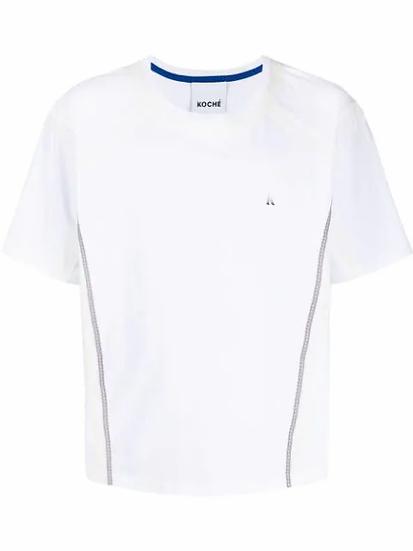 Koché - t-shirt con ribete de encaje