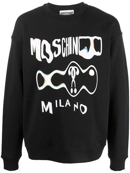 Moschino - glitch effect logo sweatshirt