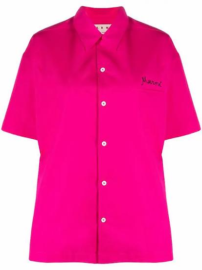 Marni - camisa logo bordado
