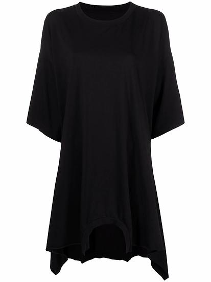 MM6 Maison Margiela - vestido camiseta con dobladillo asimétrico