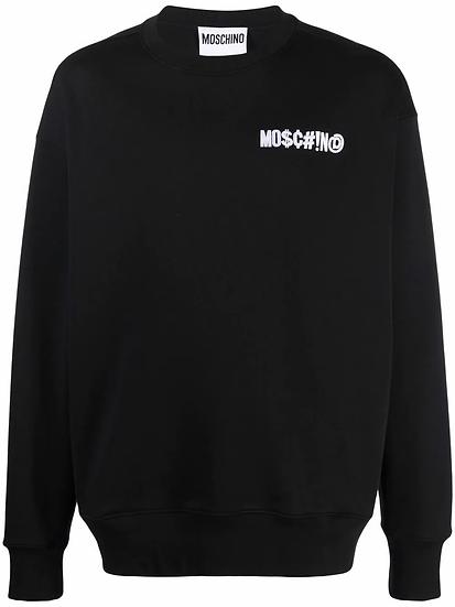 Moschino - logo patch jumper