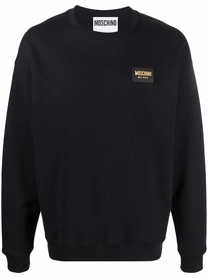 Moschino - logo plaque sweatshirt