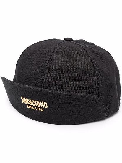 Moschino - gorra con borde con vuelta
