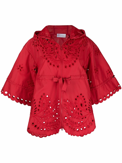 Red Valentino - chaqueta con capucha