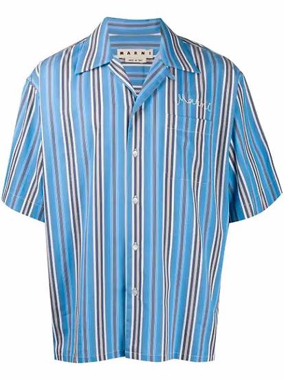 Marni - camisa oversize a rayas