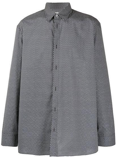 Maison Margiela - camisa estampado micro cachemira