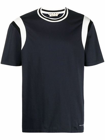 Marni - t-shirt ribete en contraste