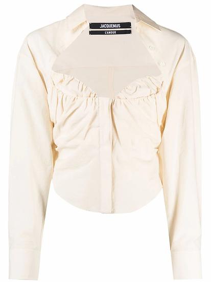 Sweetheart neckline shirt