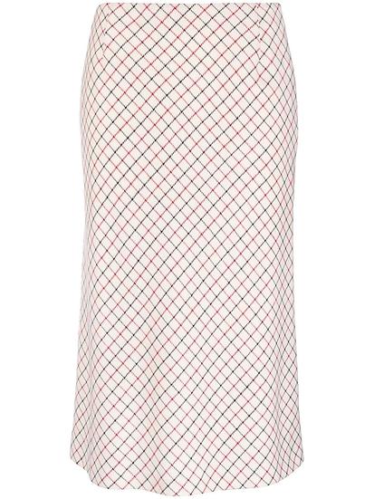 Maison Margiela - checked midi skirt