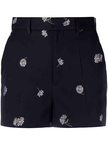 Red Valentino - shorts jacquard de flores